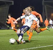 Gary Mackay-Steven gets in a cross - Scotland v Holland - UEFA U21 European Championship qualifier at St Mirren Park..© David Young - .5 Foundry Place - .Monifieth - .Angus - .DD5 4BB - .Tel: 07765 252616 - .email: davidyoungphoto@gmail.com.web: www.davidyoungphoto.co.uk