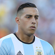 FOXBOROUGH, MASSACHUSETTS - JUNE 18:  Ramiro Funes Mori #13 of Argentina during team presentations before the Argentina Vs Venezuela Quarterfinal match of the Copa America Centenario USA 2016 Tournament at Gillette Stadium on June 18, 2016 in Foxborough, Massachusetts. (Photo by Tim Clayton/Corbis via Getty Images)