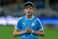 SYDNEY, AUSTRALIA - OCTOBER 27:  A young Sydney FC fan looks towards the scoreboard at The Hyundai A-League Round 1 soccer match between Sydney FC and Western Sydney Wanderers FC The Sydney Cricket Ground in Sydney on October 27, 2018. (Photo by Speed Media/Icon Sportswire)