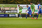 Forest Green Rovers Christian Doidge(9) shoots at goal scores a goal 2-0 during the Vanarama National League match between Forest Green Rovers and Guiseley  at the New Lawn, Forest Green, United Kingdom on 22 October 2016. Photo by Shane Healey.