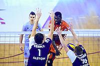 Jakub VESELY / Gary GENDREY / Patrick STEUERWALD  - 19.12.2014 - Beauvais / Saint Nazaire - 12e journee de Ligue A<br />Photo : Fred Porcu / Icon Sport