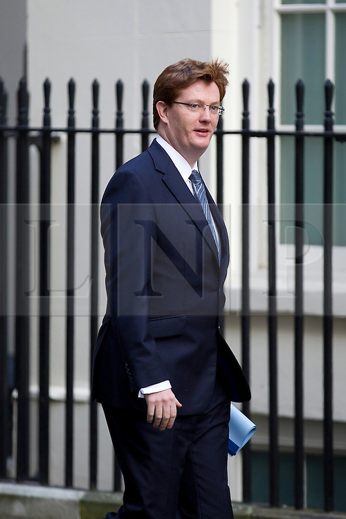 © Licensed to London News Pictures. 16/10/2012. LONDON, UK. Danny Alexander, the Treasury Secretary, is seen on Downing Street in London for today's (16/10/2012) meeting of David Cameron's cabinet. Photo credit: Matt Cetti-Roberts/LNP