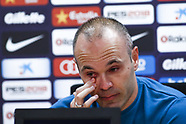 Andres Iniesta departure from FC Barcelona - 27 April 2018