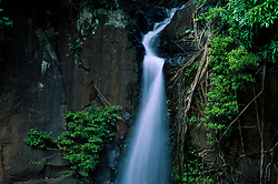 Lawai Stream Waterfall at Allerton Garden, National Tropical Botanical Garden, Kauai, Hawaii