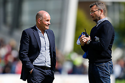 Bristol Rugby Director of Rugby Andy Robinson and Bristol Rugby First Team Coach Sean Holley look on - Photo mandatory by-line: Rogan Thomson/JMP - 07966 386802 - 25/04/2015 - SPORT - Rugby Union - Worcester, England - Sixways Stadium - Worcester Warriors v Bristol Rugby - Greene King IPA Championship.