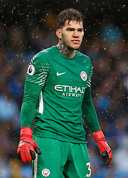 Manchester City goalkeeper Ederson during the Premier League match at the Etihad Stadium, Manchester