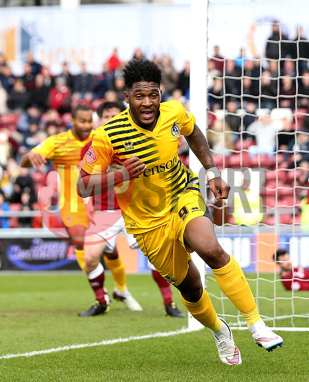 Ellis Harrison of Bristol Rovers celebrates scoring a late equalising goal - Mandatory by-line: Robbie Stephenson/JMP - 09/04/2016 - FOOTBALL - Sixfields Stadium - Northampton, England - Northampton Town v Bristol Rovers - Sky Bet League Two