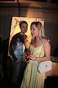 Sacha Jafri and Emily Maddock, Laurent Perrier Pop Art Pink party. Suka at Sanderson. Berners St. London. 25 April 2007.  -DO NOT ARCHIVE-© Copyright Photograph by Dafydd Jones. 248 Clapham Rd. London SW9 0PZ. Tel 0207 820 0771. www.dafjones.com.