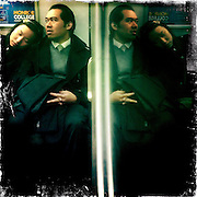New York, New York, United States. December 19th 2011..In the F train.