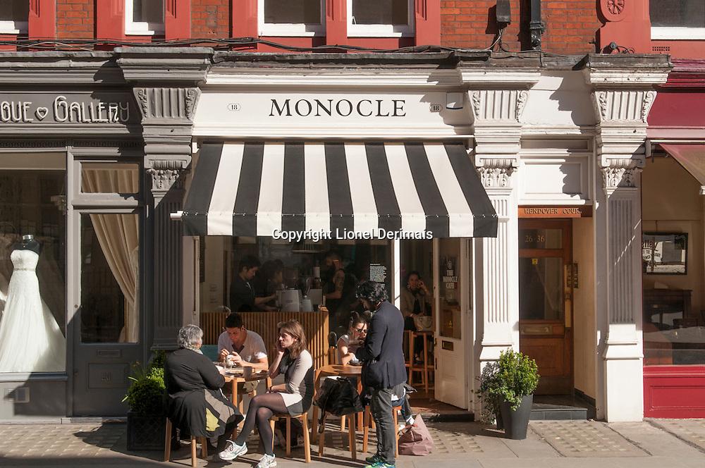 Monocle cafe, Chiltern street, Marylebone, London.