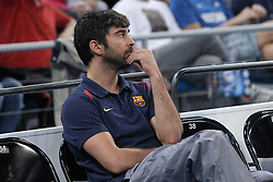 05.10.2013, Fernando Buesa Arena, Vitoria Gazteiz, ESP, Supercopa ACB, FC Barcelona vs Real Madrid, Finale, im Bild FC Barcelona's Juan Carlos Navarro // during the Supercopa ACB Final match between Barcelona FC vs Real Madrid at the Fernando Buesa Arena in Vitoria Gazteiz, Spain on 2013/10/05. EXPA Pictures © 2013, PhotoCredit: EXPA/ Alterphotos/ Acero<br /> <br /> ***** ATTENTION - OUT OF ESP and SUI *****