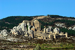 SPAIN ARAGON HUESCA CASTILLO DE LOARRE 25AUG05 - General view of the Castello de Loirre, Aragon's most spectacular and best maintained fortress. It was built by Sancho Ramirez around 1000 AD who used it as a base for his resistance to the Moorish occupation...jre/Photo by Jiri Rezac..© Jiri Rezac 2005..Contact: +44 (0) 7050 110 417.Mobile:  +44 (0) 7801 337 683.Office:  +44 (0) 20 8968 9635..Email:   jiri@jirirezac.com.Web:     www.jirirezac.com..© All images Jiri Rezac 2005 - All rights reserved.