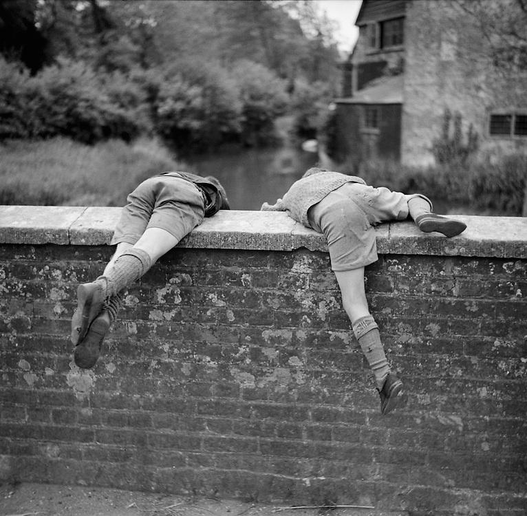 Boys Leaning Over a Bridge, Bosham, Sussex, England, 1936
