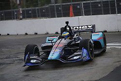July 14, 2018 - Toronto, Ontario, Canada - SEBASTIEN BOURDAIS (18) of France attempts to qualify in the rain for the Honda Indy Toronto at Streets of Toronto in Toronto, Ontario. (Credit Image: © Justin R. Noe Asp Inc/ASP via ZUMA Wire)