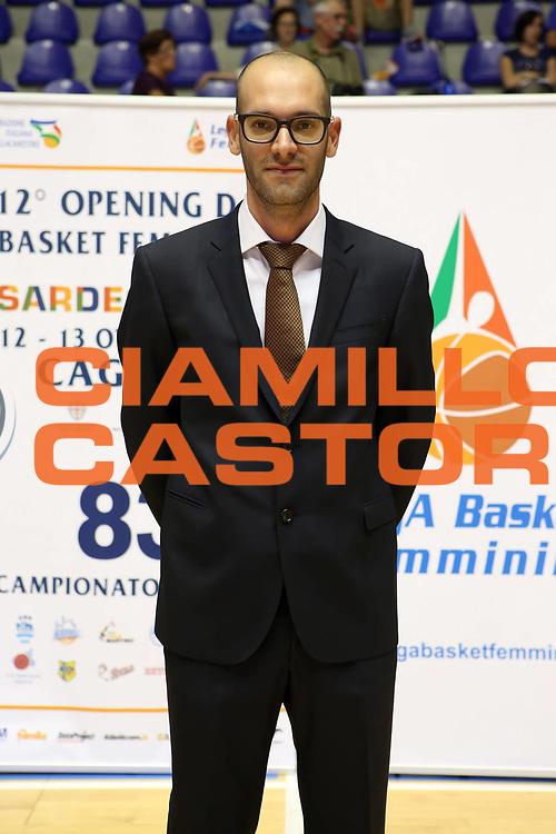 DESCRIZIONE : Cagliari Lega A1 Femminile 2013-14 Opening Day 2013 Umana Venezia<br /> GIOCATORE : Andrea Liberalotto<br /> SQUADRA : Umana Venezia<br /> EVENTO : Campionato Lega A1 Femminile 2013-2014 <br /> GARA : <br /> DATA : 13/10/2013<br /> CATEGORIA : ritratto coach<br /> SPORT : Pallacanestro <br /> AUTORE : Agenzia Ciamillo-Castoria/ElioCastoria<br /> Galleria : Lega Basket Femminile 2013-2014 <br /> Fotonotizia : Cagliari Lega A1 Femminile 2012-13 Opening Day 2013 Umana Venezia<br /> Predefinita :