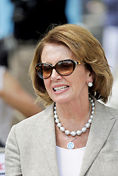 29 August 2015. Lower 9th Ward, New Orleans, Louisiana.<br /> Hurricane Katrina 10th anniversary memorials.  <br /> Congresswoman Nancy Pelosi attends the memorial. <br /> Photo credit©; Charlie Varley/varleypix.com.