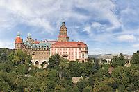 Schloss Fürstenstein im Waldenburger Bergland in Niederschlesien