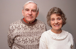 Portrait of elderly couple,