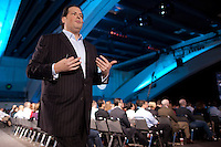 SAN FRANCISCO, CA - DEC 7:  Marc Benioff, Chairman & CEO of salesforce.com delivers a keynote speech during the 2010 DreamForce Global Gathering being held at the Moscone Center on December 7, 2010 in San Francisco, California.  Photography by David Paul Morris