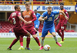 Marcus Maddison of Peterborough United takes on Bradford City's James Meredith and Lee Evans - Mandatory byline: Joe Dent/JMP - 07966386802 - 26/09/2015 - FOOTBALL - Coral Windows Stadium -Bradford,England - Bradford City v Peterborough United - Sky Bet League One