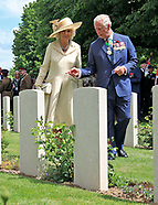 Charles & Camilla - Remembrance Service,Bayeux Cemetery