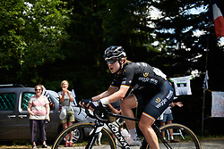 Grace Brown (AUS) on the penultimate climb at La Course by Le Tour de France 2018, a 112.5 km road race from Annecy to Le Grand Bornand, France on July 17, 2018. Photo by Sean Robinson/velofocus.com