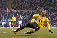 Photo: Glyn Thomas.<br />Birmingham City v Arsenal. The Barclays Premiership. 04/02/2006.<br />Arsenal's Thierry Henry scores his side's second goal.