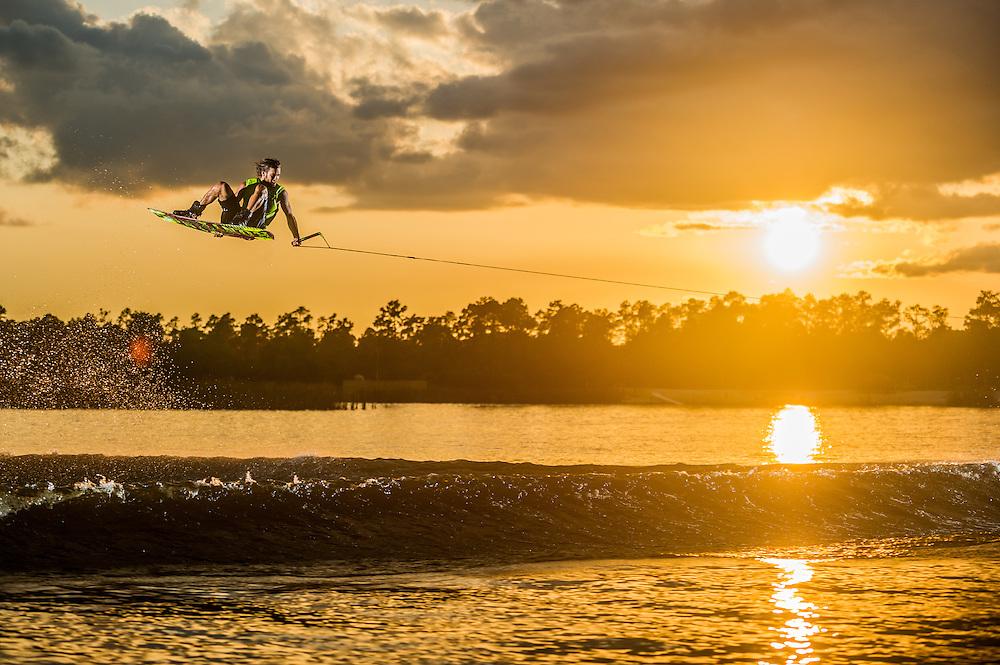 Dominik Hernler shot for Ronix Wakeboards at Lake Ronix in Orlando, Florida.