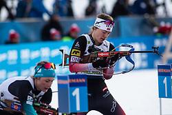 Synnoeve Solemdal (NOR) during the Mixed Relay 2x 6 km / 2x 7,5 km at day 3 of IBU Biathlon World Cup 2019/20 Pokljuka, on January 23, 2020 in Rudno polje, Pokljuka, Pokljuka, Slovenia. Photo by Peter Podobnik / Sportida