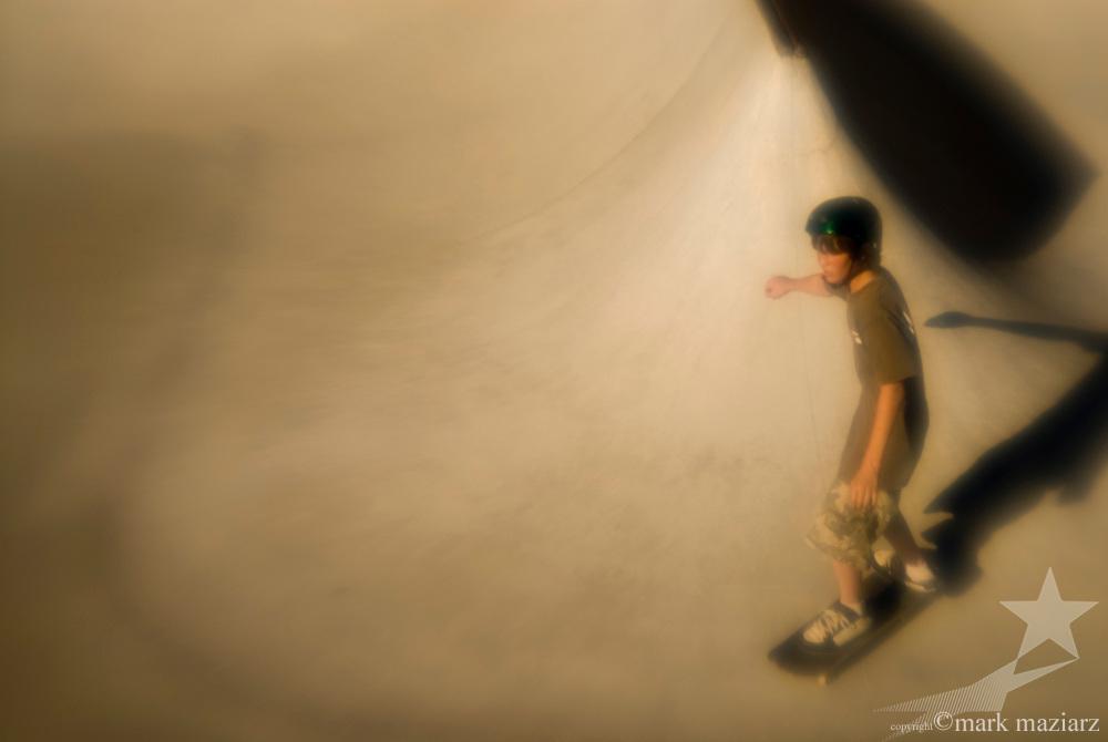 artsy photo of Park City Skateboard Park