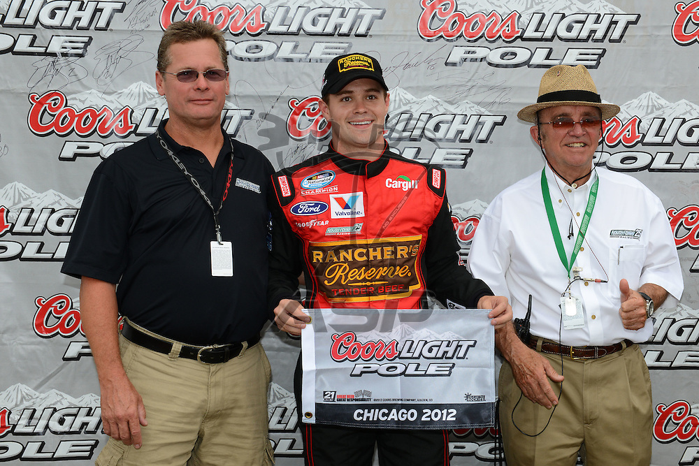 Joliet,Il - JUL 22, 2012: Ricky Stenhouse, Jr. (6) during qualifying for the STP 300 at Chicagoland Speedway in Joliet, Il.
