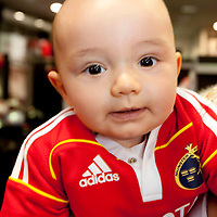 NEW MUNSTER RUGBY JERSEY   A.J. Quinlan, son of Munster's Alan Quinlan at the official adidas in-store launch of the new adidas Munster jersey in Elvery's, Crescent Shopping Centre, Limerick.. - Photo: Kieran Clancy / PicSure   31/8/09<br /> ©<br />  For further information please contact<br /> work(01) 6690136<br /> 0876601908<br /> Greg.Keane@ogilvy.com<br /> <br /> kieran@picsure.ie         087-2532015