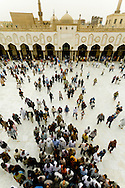 Egypt . Cairo : Friday prayer view from the minarets of al Azhar mosque. islamic cairo  +