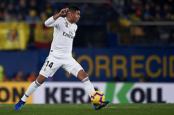 January 3, 2019 - Villarreal, Castellon, Spain - Casemiro of Real Madrid controls the ball during the week 17 of La Liga match between Villarreal CF and Real Madrid at Ceramica Stadium in Villarreal, Spain on January 3 2019. (Credit Image: © Jose Breton/NurPhoto via ZUMA Press)
