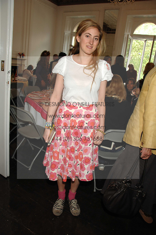 VIOLET NAYLOR-LEYLAND at a lunch in aid of African Solutions To African Problems held at Il Bottaccio, 9 Grosvenor Place, London on 20th May 2008.<br />
