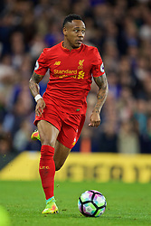 LONDON, ENGLAND - Friday, September 16, 2016: Liverpool's Nathaniel Clyne in action against Chelsea during the FA Premier League match at Stamford Bridge. (Pic by David Rawcliffe/Propaganda)