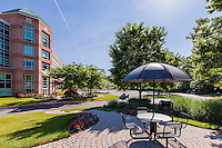 Exterior Image of Airport Square office building in Linthicum MD by Jeffrey Sauers of Commercial Photographics, Architectural Photo Artistry in Washington DC, Virginia to Florida and PA to New England