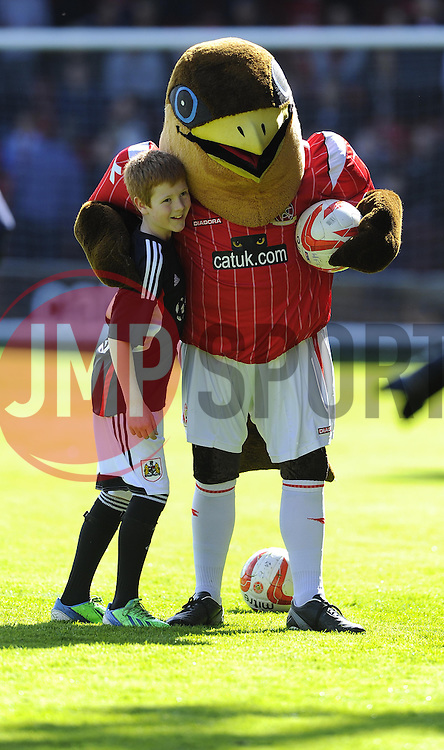 Mascot  - Photo mandatory by-line: Joe Meredith/JMP - Mobile: 07966 386802 12/04/2014 - SPORT - FOOTBALL - Walsall - Banks' Stadium - Walsall v Bristol City - Sky Bet League One