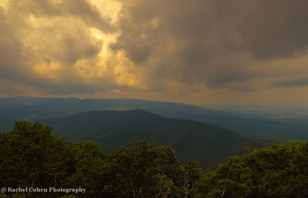 &quot;Stormy Sunset in the Blue Ridge&quot;<br />