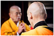 Monks praying - Toji Temple, Kyoto
