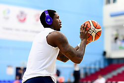 Fred Thomas of Bristol Flyers warms up prior to tip off - Photo mandatory by-line: Ryan Hiscott/JMP - 17/01/2020 - BASKETBALL - SGS Wise Arena - Bristol, England - Bristol Flyers v London City Royals - British Basketball League Championship