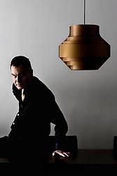 Barcelona,Spain<br /> Ignacio Vidal Folch,writer,at home<br /> &copy;Carmen Secanella