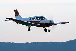 Piper PA-28-161 Warrior II (N8249B) lands at Palo Alto Airport (KPAO), Palo Alto, California, United States of America