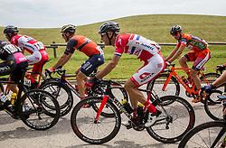 Borut Bozic (SLO) of Bahrain-Merida, Radoslav Rogina (CRO) of KK Adria Mobil,, Marco Canola (ITA) of Nippo-Vini Fantini during Stage 2 of 24th Tour of Slovenia 2017 / Tour de Slovenie from Ljubljana to Ljubljana (169,9 km) cycling race on June 16, 2017 in Slovenia. Photo by Vid Ponikvar / Sportida