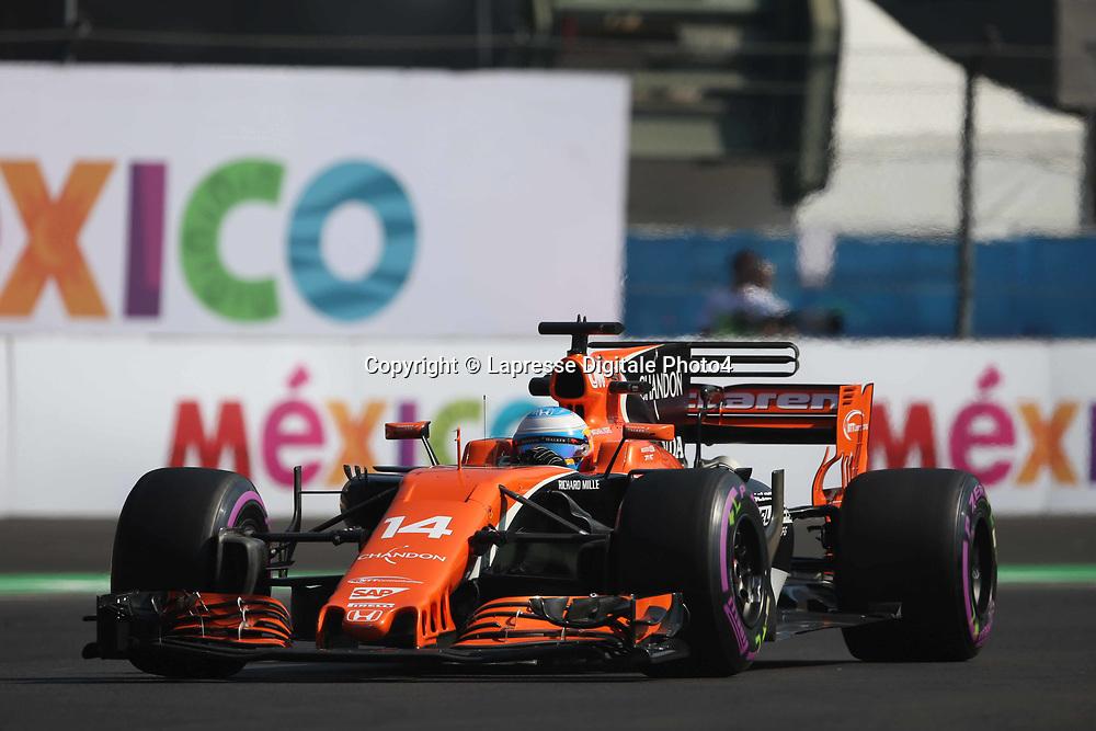 &copy; Photo4 / LaPresse<br /> 27/10/2017 Mexico City, Mexico<br /> Sport <br /> Grand Prix Formula One Mexico 2017<br /> In the pic: Fernando Alonso (ESP) McLaren MCL32