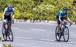 10.07.2019, Fuscher Törl, AUT, Ö-Tour, Österreich Radrundfahrt, 4. Etappe, von Radstadt nach Fuscher Törl (103,5 km), im Bild v.l.: Ben Hermans (Israel Cycling Academy, BEL), Eduardo Sepulveda (Movistar Team, ARG) // during 4th stage from Radstadt to Fuscher Törl (103,5 km) of the 2019 Tour of Austria. Fuscher Törl, Austria on 2019/07/10. EXPA Pictures © 2019, PhotoCredit: EXPA/ JFK