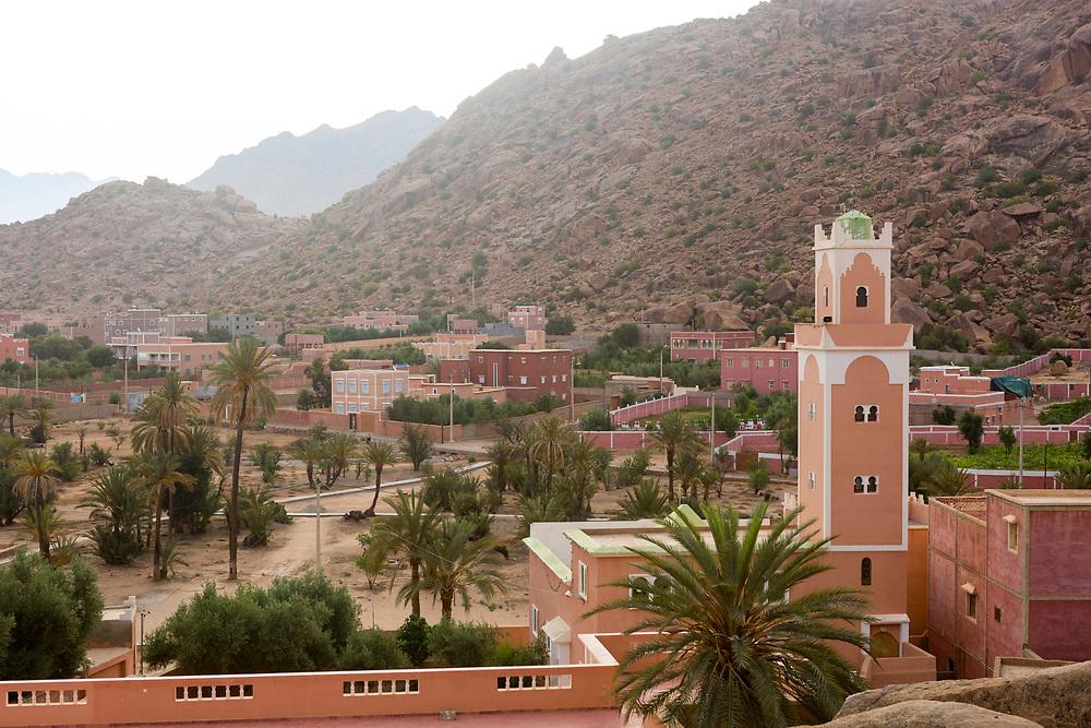 Tafraoute landscape, Anti Atlas Mountains, Souss Massa Draa, Anti Atlas Mountains, Souss Massa Draa region of Southern Morocco