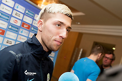 Kevin Kampl at the reception of Slovenian footballers before going on friendly match in Algeria, on 3rd March 2014, in Brdo pri Kranju, Slovenia. Photo by Urban Urbanc / Sportida.com