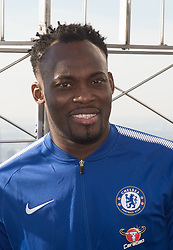 November 27, 2017 - New York, New York, U.S - The Empire State Building hosts MICHAEL ESSIEN on November 27, 2017 in New York. (Credit Image: © Bryan Smith via ZUMA Wire)