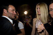 TOM FORD; CLAUDIA SCHIFFER, Luomo Vogue 40th Anniversary dinner. Palazzo Litta. Milan. 22 June 2008 *** Local Caption *** -DO NOT ARCHIVE-© Copyright Photograph by Dafydd Jones. 248 Clapham Rd. London SW9 0PZ. Tel 0207 820 0771. www.dafjones.com.